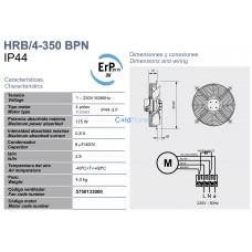 Вентилятор Soler&Palau HRB/4-350 BPN