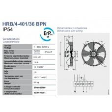 Вентилятор Soler&Palau HRB/4-401/36 BPN