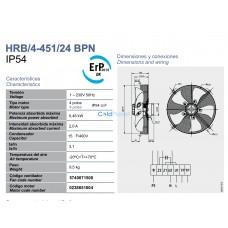 Вентилятор Soler&Palau HRB/4-451/24 BPN
