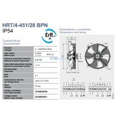 Вентилятор Soler&Palau HRT/4-451/28 BPN