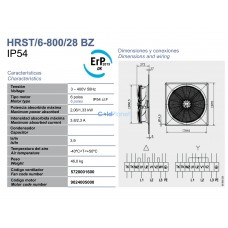 Вентилятор Soler&Palau HRST/6-800/28 BPN