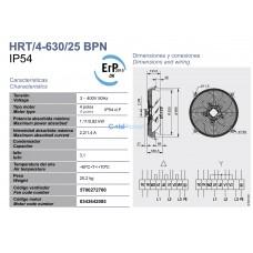 Вентилятор Soler&Palau HRT/4-630/25 BPN